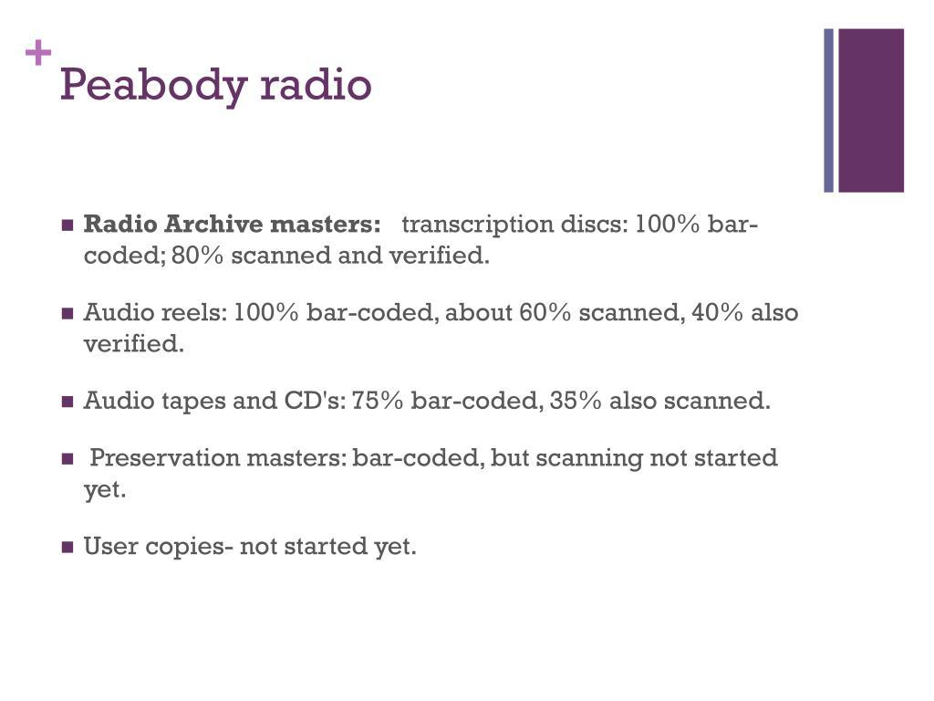 Peabody radio