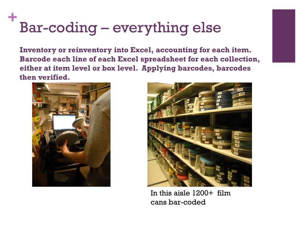 Bar-coding – everything else