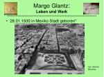 margo glantz leben und werk