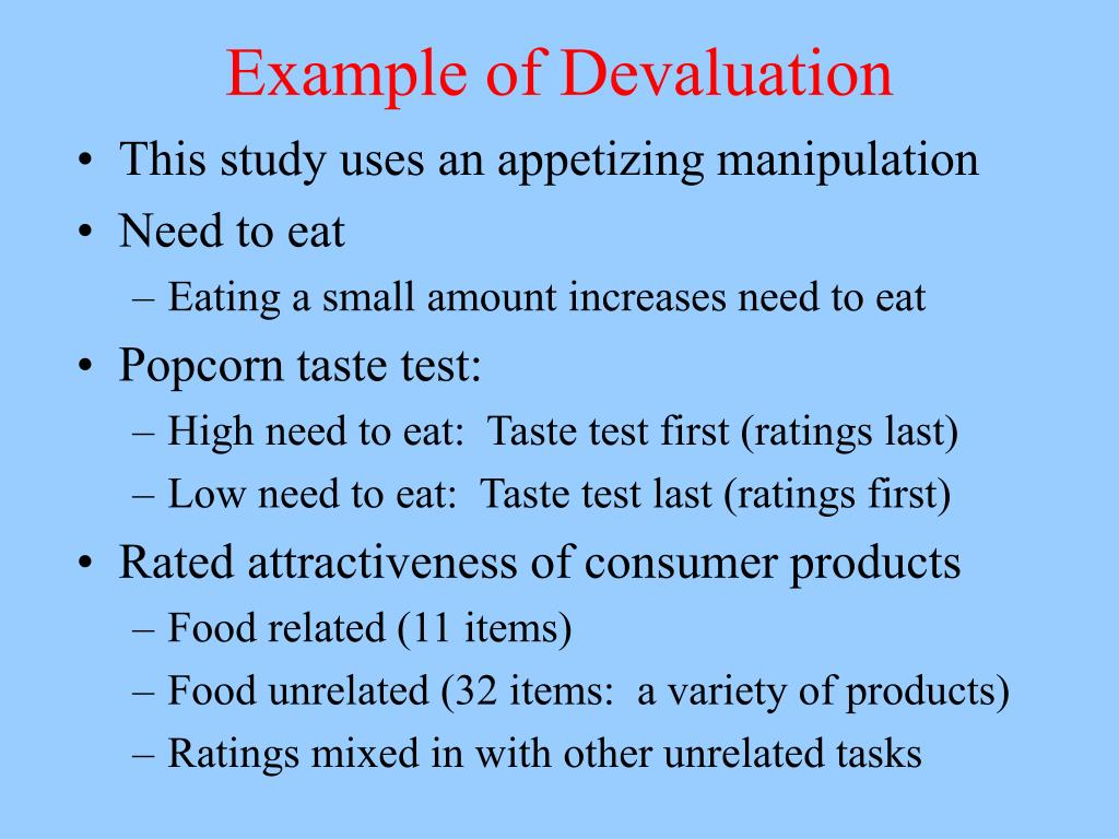 Example of Devaluation
