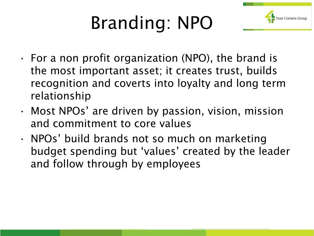 Branding: NPO