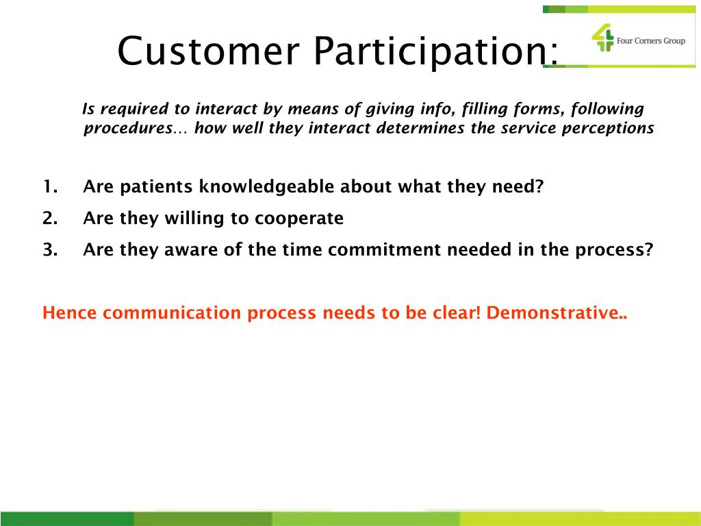 Customer Participation:
