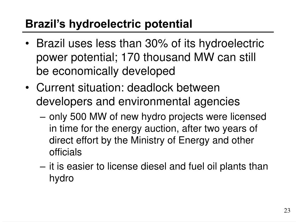 Brazil's hydroelectric potential