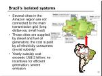 brazil s isolated systems