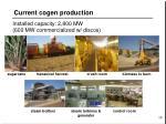current cogen production
