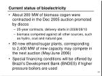 current status of bioelectricity