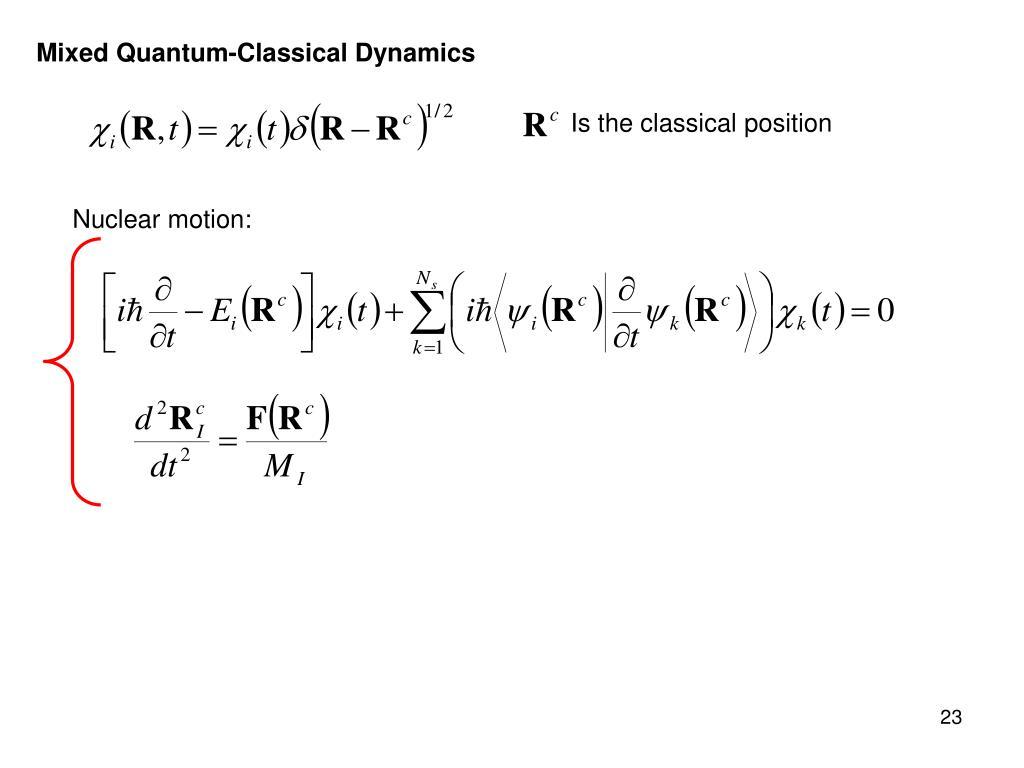 Mixed Quantum-Classical Dynamics