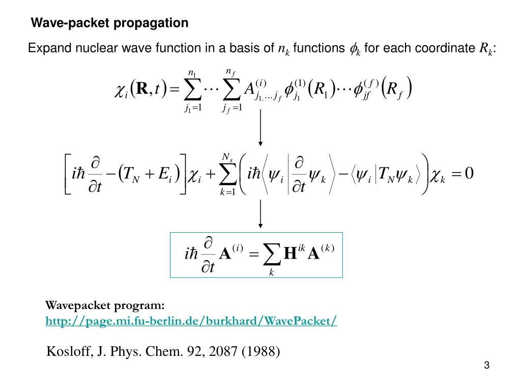 Wave-packet propagation