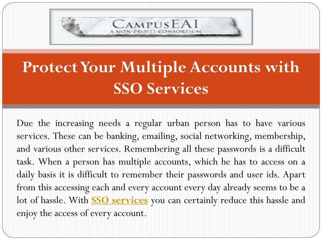 Protect Your Multiple Accounts with SSO Services