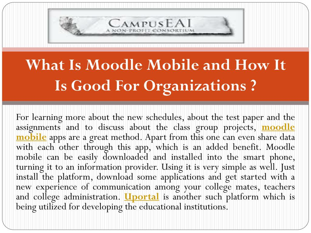 What Is Moodle Mobile and How It Is Good For