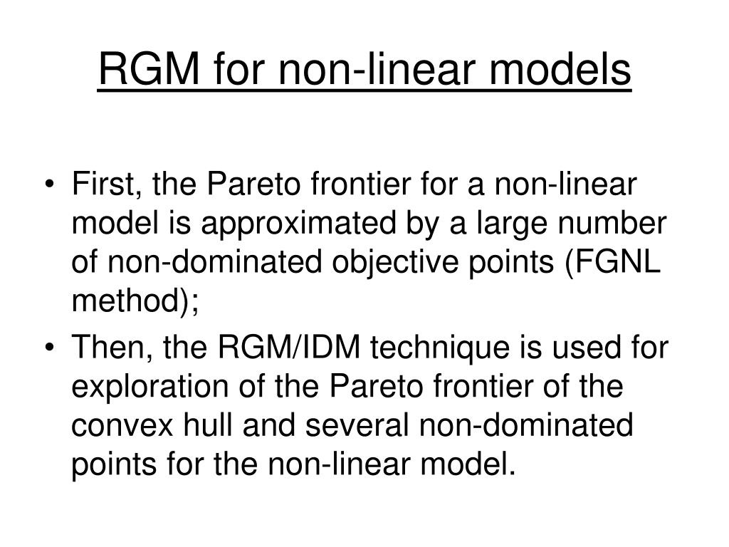 RGM for non-linear models