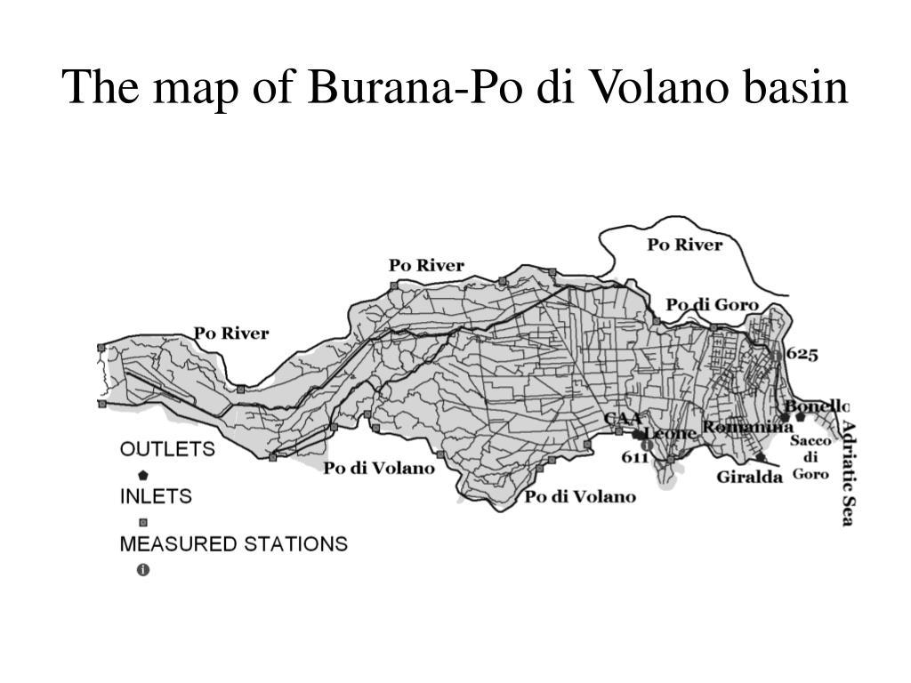 The map of Burana-Po di Volano basin