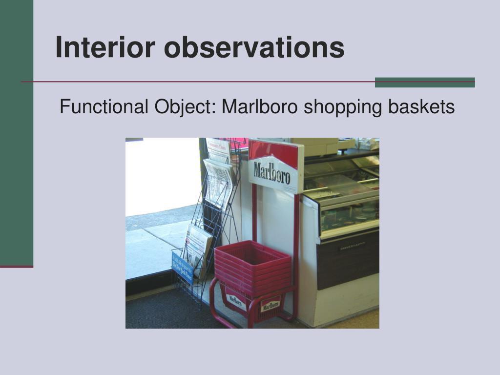 Interior observations