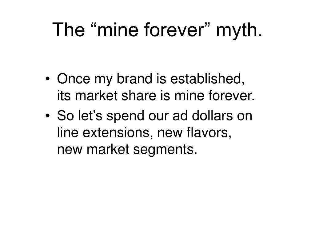 """The """"mine forever"""" myth."""