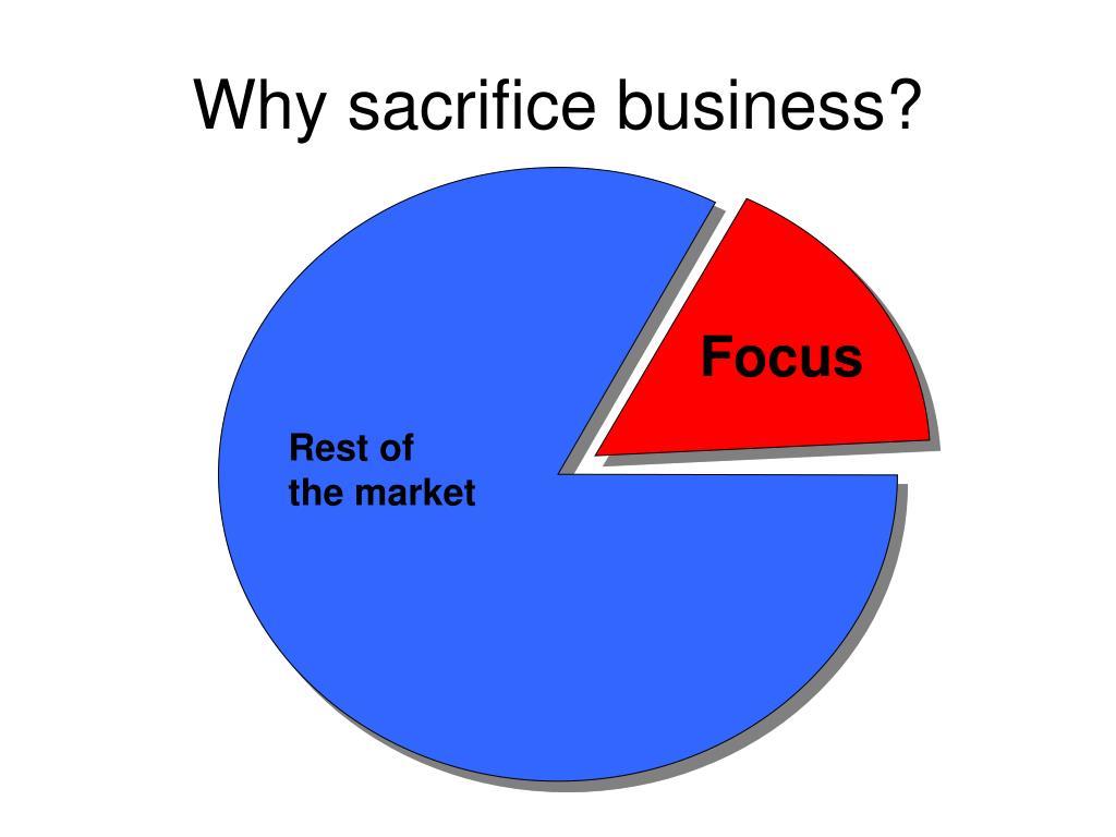 Why sacrifice business?