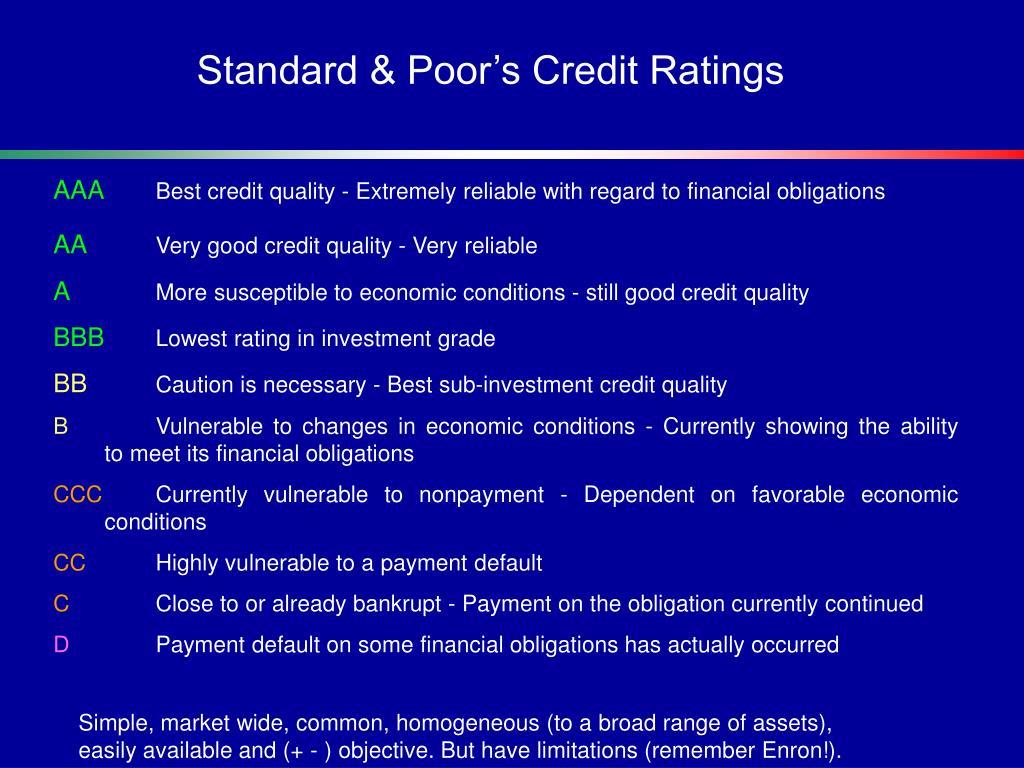 Standard & Poor's Credit Ratings