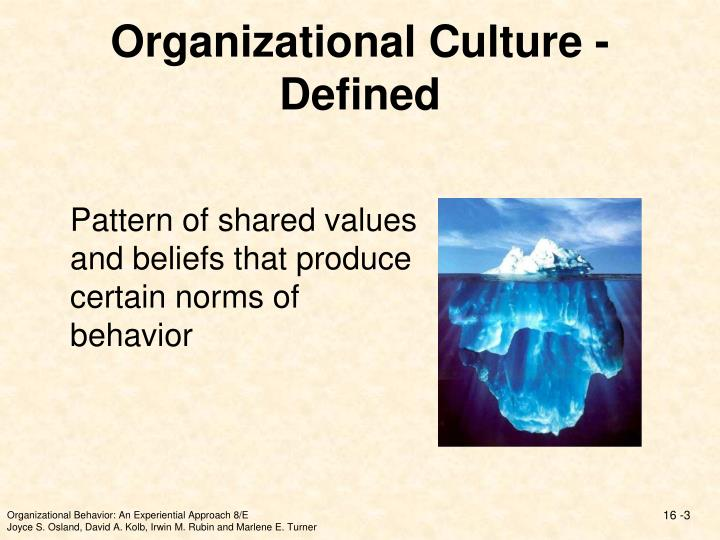 PPT - Chapter 16 Organizational Culture PowerPoint Presentation ...