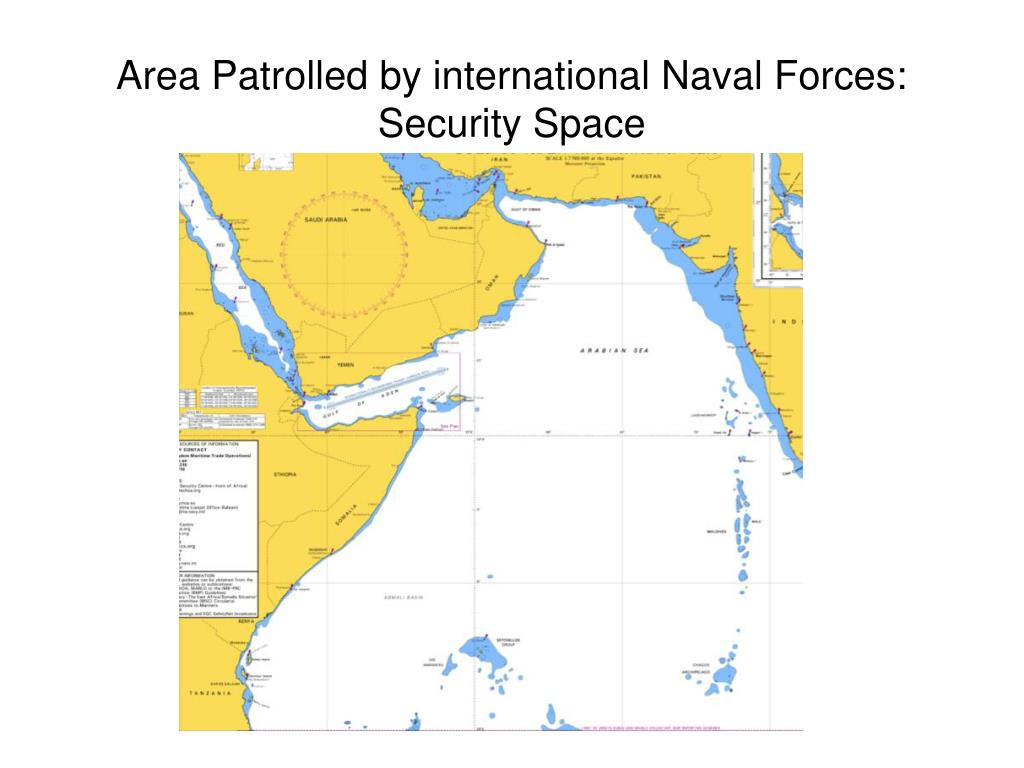 Area Patrolled by international Naval Forces: Security Space