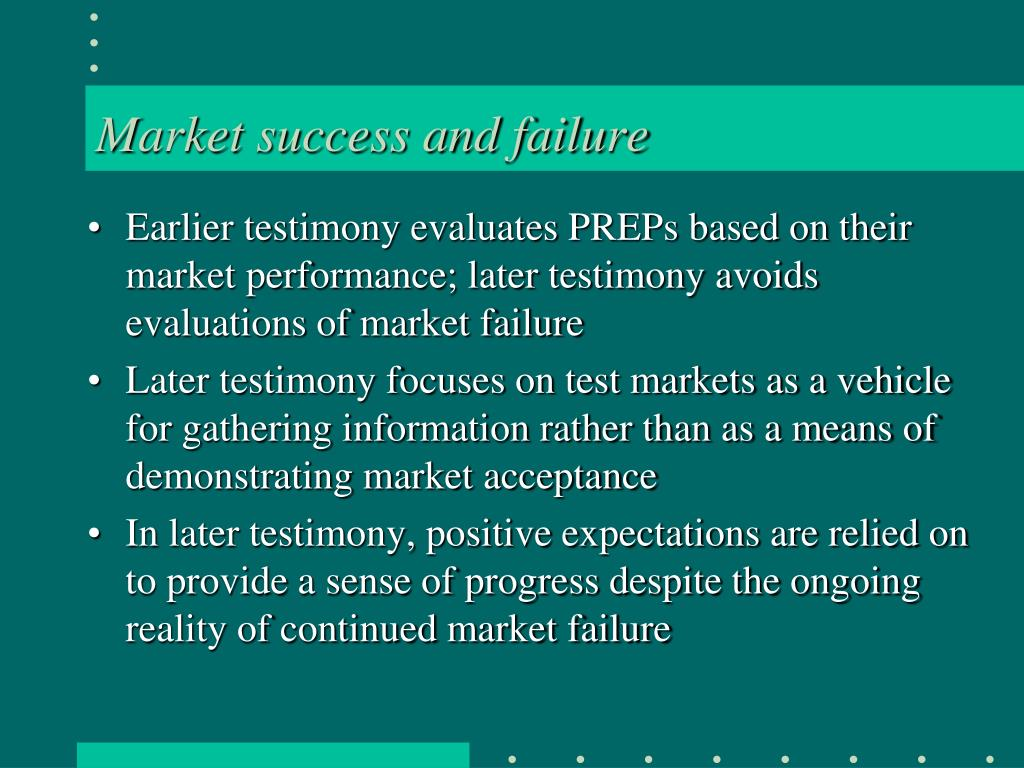 Market success and failure