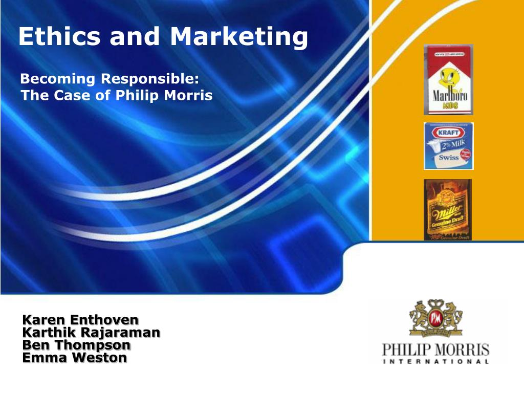 phillip morris ethical issues Essays - largest database of quality sample essays and research papers on phillip morris ethical issues.
