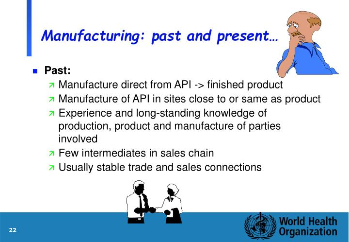 Manufacturing: past and present…
