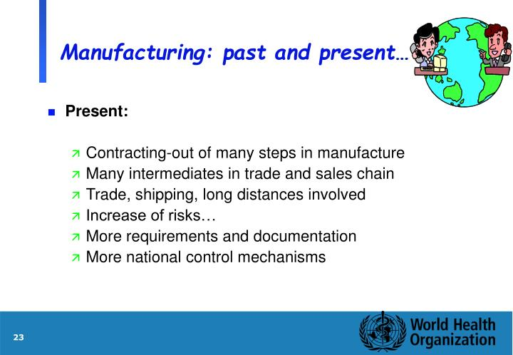 Manufacturing: past and present