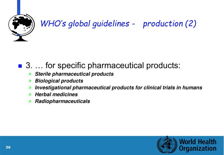 WHO's global guidelines -production (2)