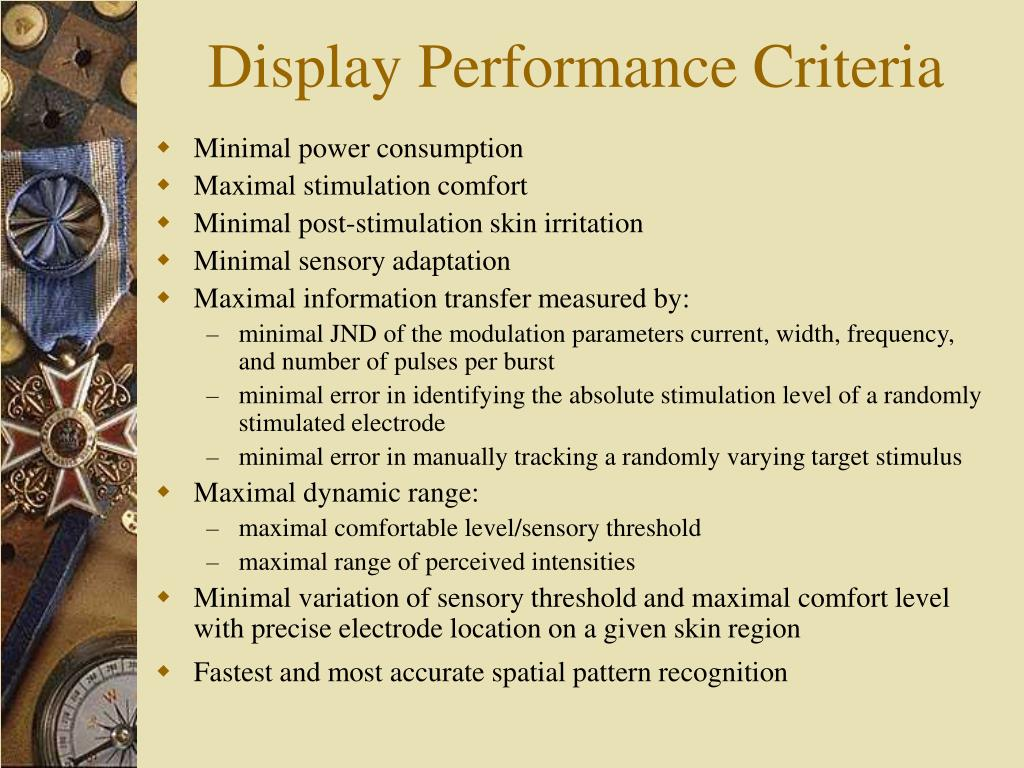 Display Performance Criteria