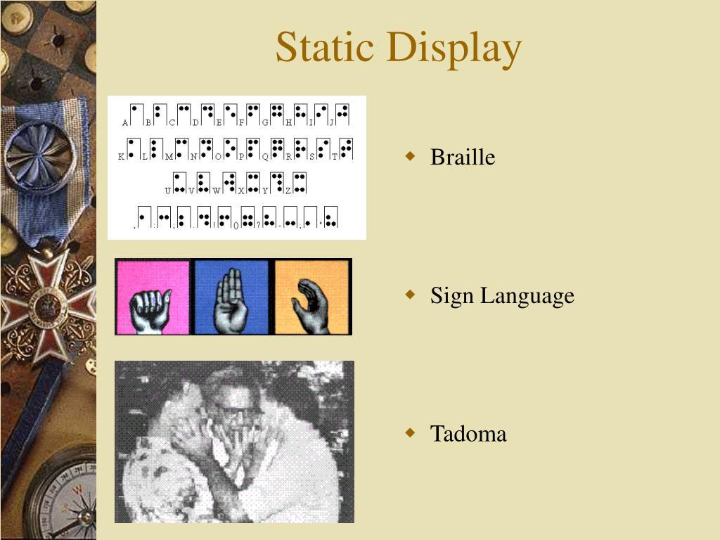 Static Display