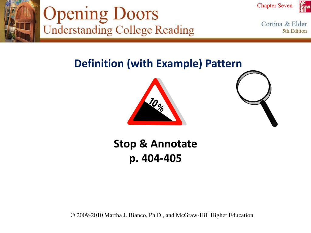 Definition (with Example) Pattern