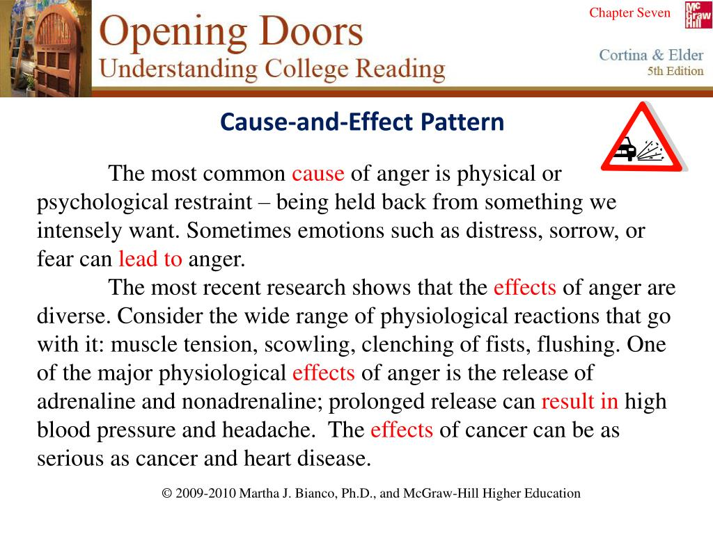 Cause-and-Effect Pattern