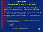 competencies summative formative integration