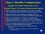 step 3 identify competencies local curricular integration cont