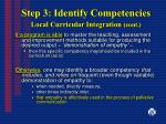 step 3 identify competencies local curricular integration cont17