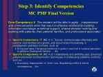 step 3 identify competencies mc pmf final version