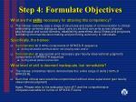 step 4 formulate objectives24