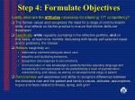 step 4 formulate objectives25