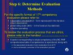 step 6 determine evaluation methods31
