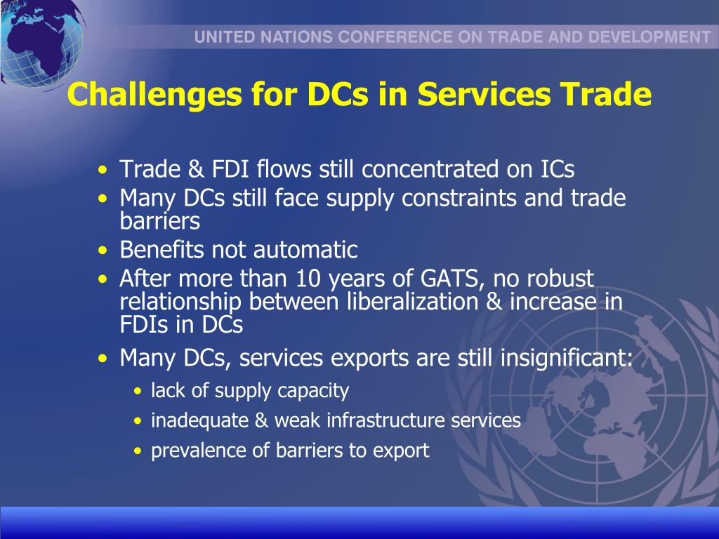 Challenges for DCs in Services Trade