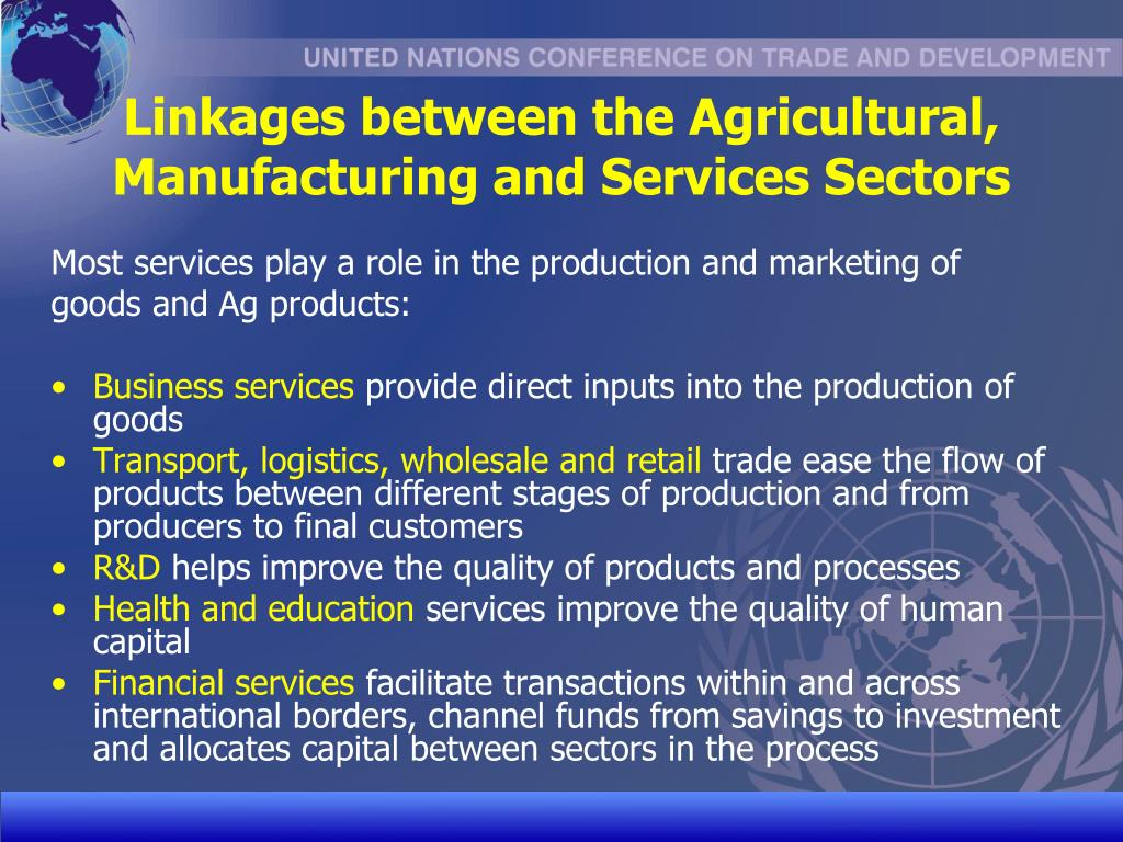 Linkages between the Agricultural, Manufacturing and Services Sectors