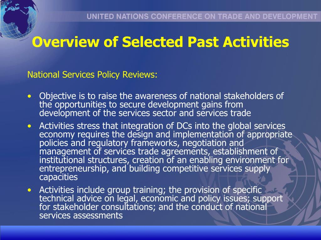 Overview of Selected Past Activities