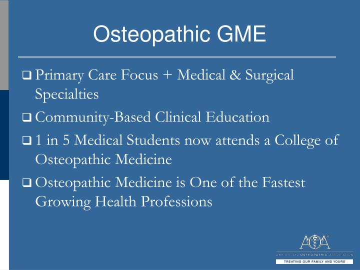 Osteopathic GME