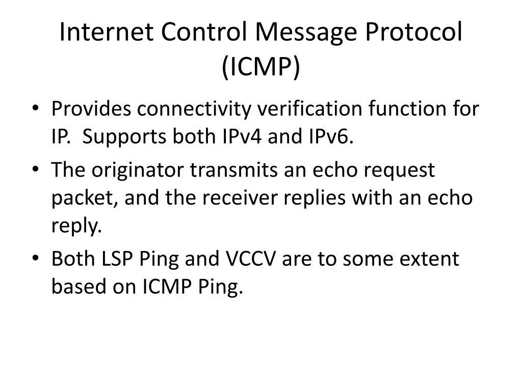 Internet Control Message Protocol (ICMP)