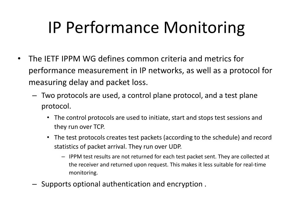 IP Performance Monitoring