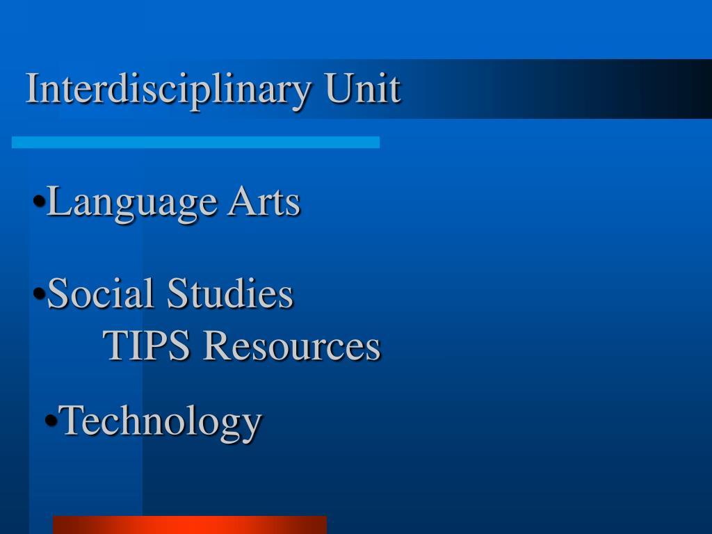 Interdisciplinary Unit