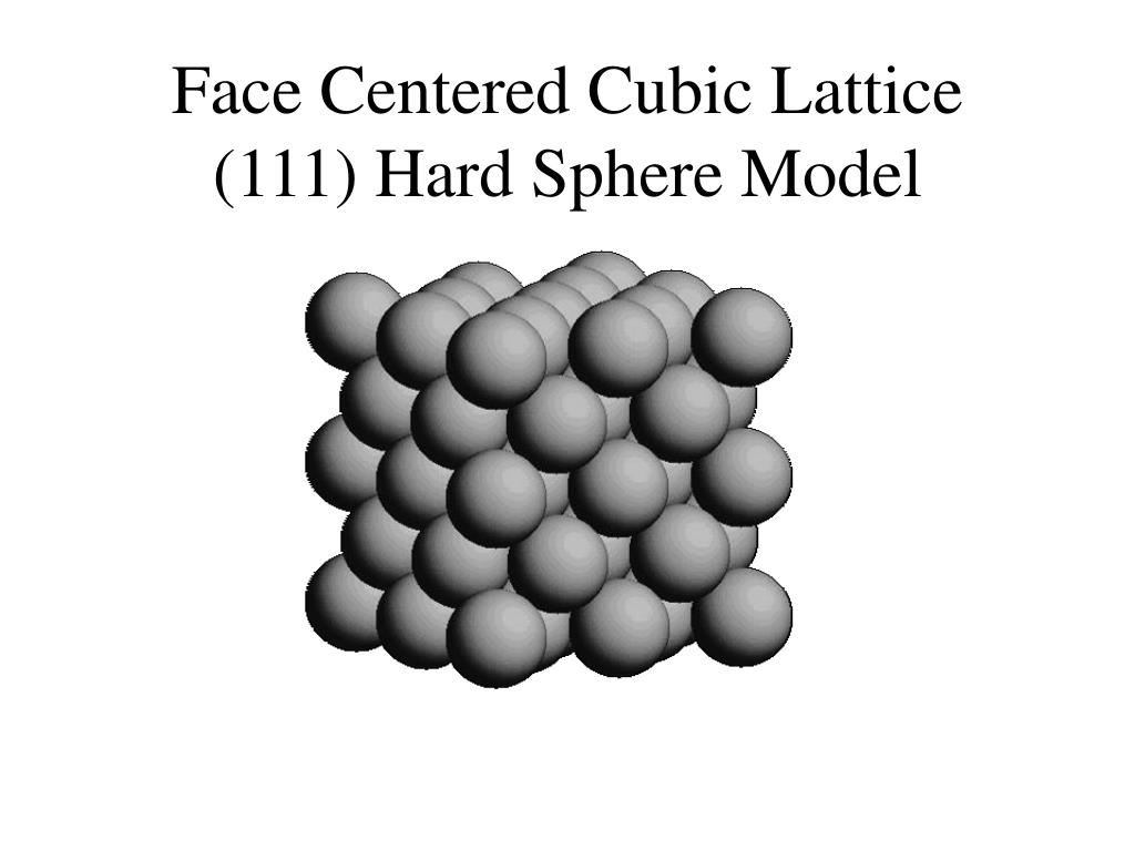 Face Centered Cubic Lattice (111) Hard Sphere Model