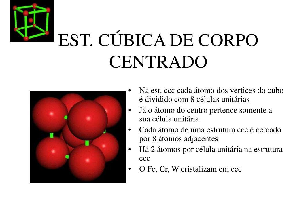 EST. CÚBICA DE CORPO CENTRADO