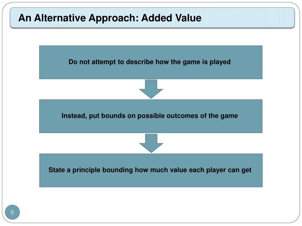 An Alternative Approach: Added Value