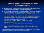 emerging market public sector and utility interchange programs