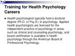 training for health psychology careers
